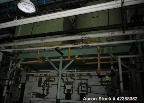 Used-  (2) Mild Steel Butter Storage Tanks  (1) 8'L X 6'H X 6'W & (1) 7' Dia. X 6'H, (2) Pumps & Liquid Metering Unit