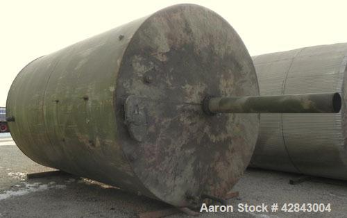 """Used- Tank, Carbon Steel, 9,500 Gallon, Vertical. Approximately 120"""" diameter x 192"""" straight side. Slight coned top and bot..."""