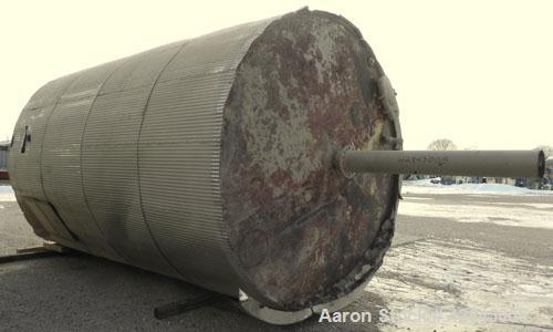 "Used- Tank, Carbon Steel, 9,500 Gallon, Vertical. Approximately 120"" diameter x 192"" straight side. Slight coned top and bot..."
