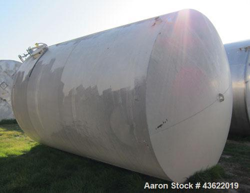 Used- 10,000 Gallon Horizontal Carbon Steel Storage Tank.