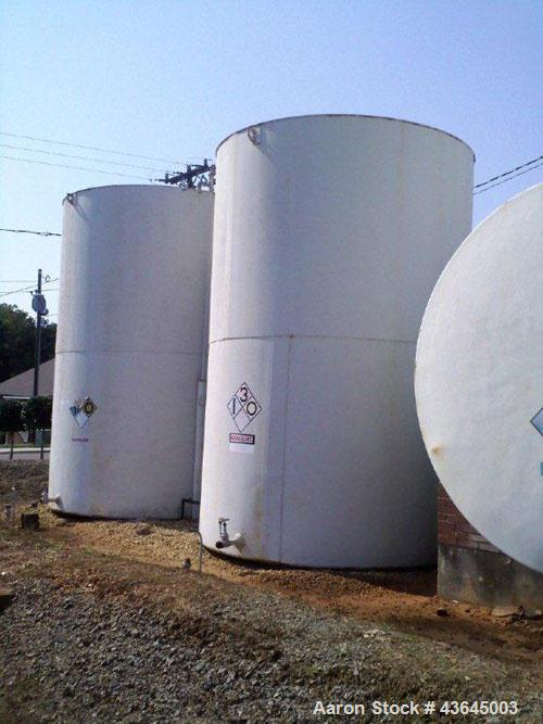 Used-Tank, 10,000 Gallon Vertical, Carbon Steel, Flat Top, Flat Bottom, Approximately 10 Foot Diameter, 15 Feet Straight Side