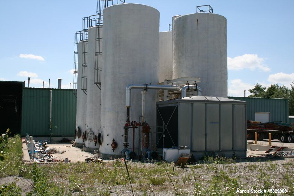 "Used- 30,000 Gallon CS Holding Tank, 12'8"" OD x 32' tall,  insulated, foam covered, heating coil inside, 15 psi.  JD Cousins..."