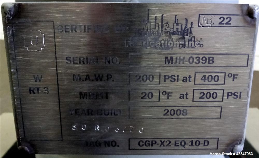 Used- MJ & H Carbon Steel Pressure Tank,