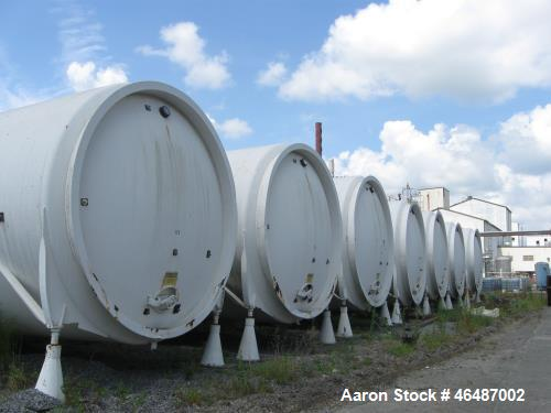 "Used- Glass Lined Horizontal Storage Tank , Approximately 21,000 Gallon. Approximately 12' diameter x 252"" long. Dished ends..."