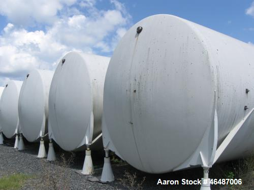 """Used- Glass Lined Horizontal Storage Tank , Approximately 21,000 Gallon. Approximately 12' diameter x 252"""" long. Dished ends..."""