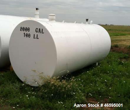 Used- 2,000 Gallon Above Ground Tank on Skids. Carbon Steel,Tokheim Key Pump/10 Slots.