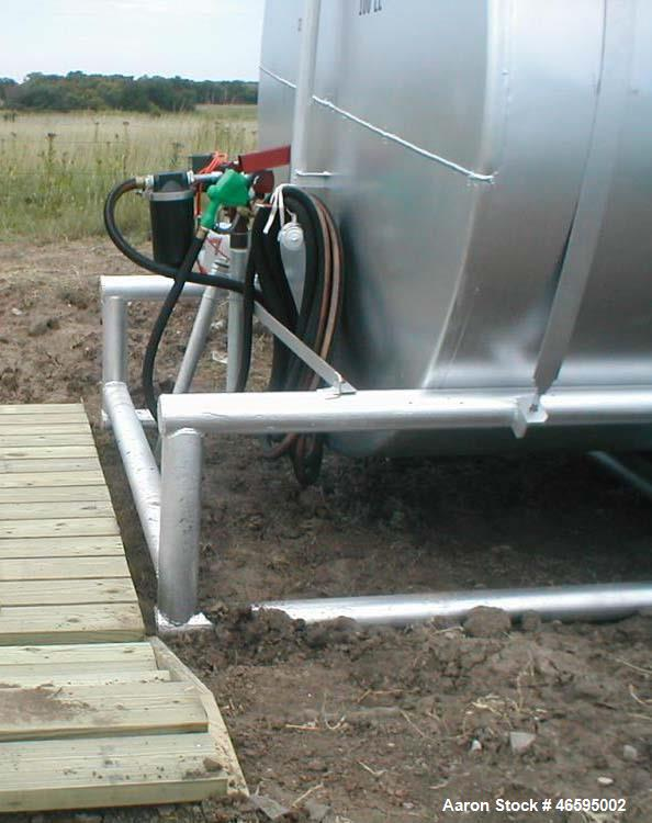 Used- 6000 Gallon Above Ground Tank on Skids. Carbon Steel, Gas Boy Fuel Pump, Single Wall, last used to store AvGas.