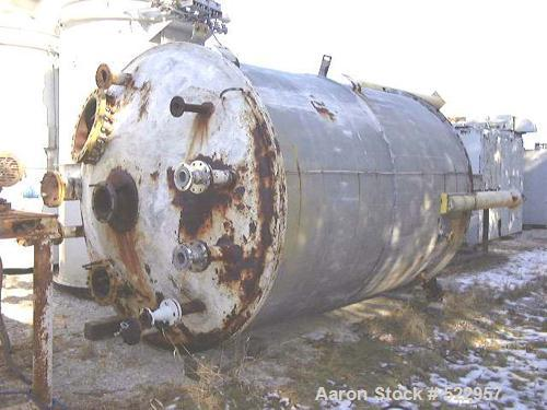"USED: Modern Welding Company Pressure Vessel, 4,500 gallons, carbon steel, insulated.  96"" diameter x 138"" straight side.  D..."