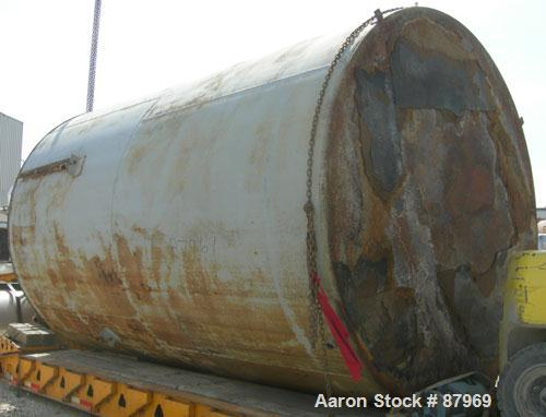 "USED: Tank, 10,300 gallon, carbon steel, vertical. 10'6"" diameter x 16' straight side. Slight coned top, flat bottom. Side b..."
