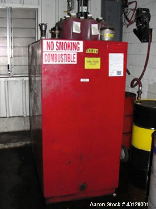 "Used-500 Gallon Tank, Carbon Steel, 12GA construction, single wall.  60"" long x 32"" wide x 60"" high.  Includes Ingersoll Ran..."