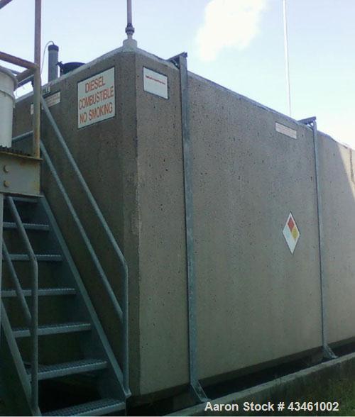 "Used- ConVault Fuel Tank, 8,000 Gallon Above Ground Storage Tank. UL-2085. OAD 23' 1-1/2"" length x 8'1/2"" wide x 8'9-3/4"" hi..."