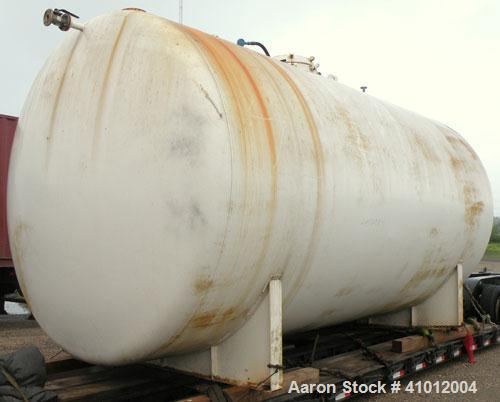"Used- Clawson Pressure Tank, 13,504 gallon, SA-516-070 carbon steel, horizontal. 125-1/2"" diameter x 222"" straight side, dis..."
