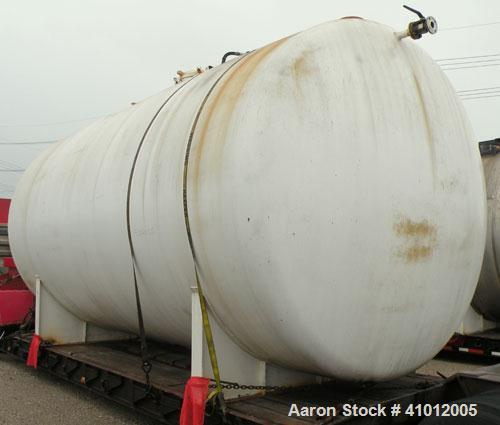 "Used- Clawson Pressure Tank, 13,504 gallon, SA-516-070 carbon steel, horizontal. 125-1/2"" diameter x 222"" straight side, dis..."