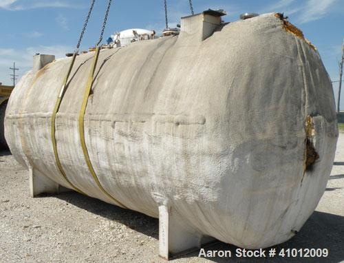"""Used- Tank, Approximate 6,000 Gallon, carbon steel, horizontal. Approximate 90"""" diameter x 198"""" straight side, dished heads...."""
