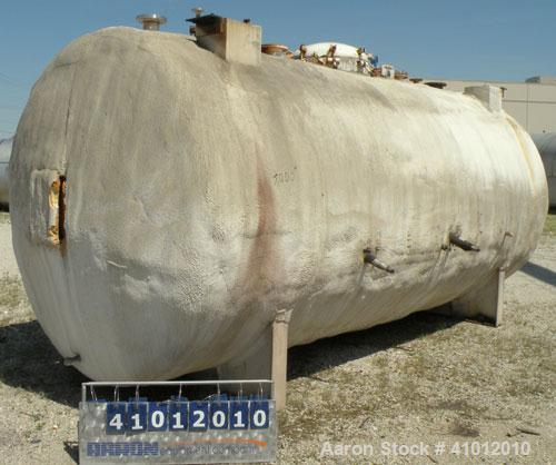 """Used- Clawson Pressure Tank, 6,708 Gallon, Carbon Steel, Horizontal. 95-1/2"""" Diameter x 192"""" straight side, dished heads. In..."""