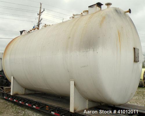 Used- Clawson Tank Company 2 Compartment Pressure Tank, 12,336 gallons, 6,168 gallons per compartment, carbon steel, horizon...
