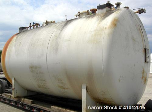 Used- Clawson Tank Company 2 Compartment Pressure Tank, 12,336 gallons, 6,168 gallona per compartment, carbon steel, horizon...