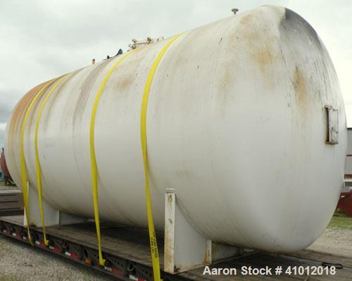 "Used- Clawson Pressure Tank, 13,504 gallons, SA-516-070 carbon steel, horizontal. 125-1/2"" diameter x 222"" straight side, di..."