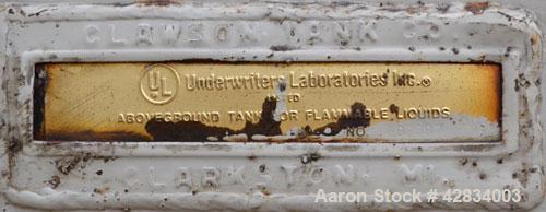 Used- Clawson Tank Company Aboveground Flammable Liquid Storage Tank, 7500 Gallon, Carbon Steel. 126'' Diameter x 144'' stra...