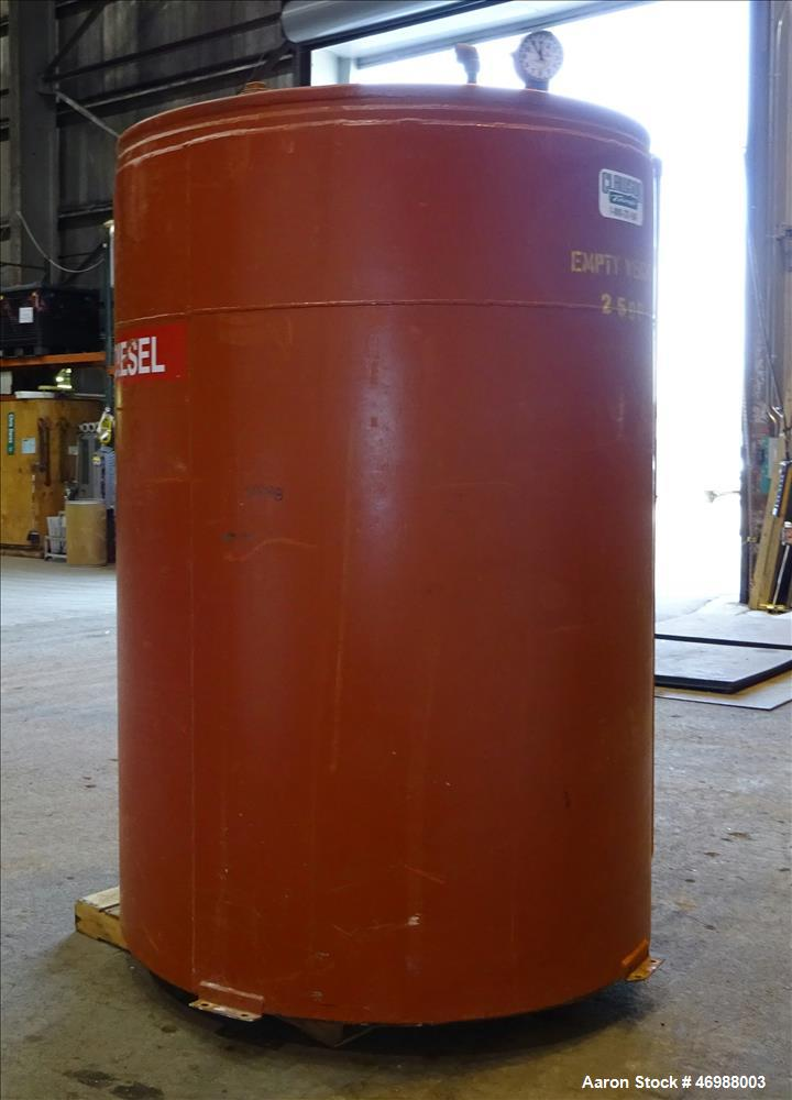 "Used- Clawson UL Listed Above Ground Diesel Fuel Tank, Approximate 1000 Gallons, Carbon Steel, Vertical. Approximate 60"" dia..."