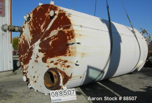 "USED: Clawson tank, 15,000 gallon, carbon steel, vertical. 10'6"" diameter x 24' straight side. Cone top, flat bottom. Intern..."