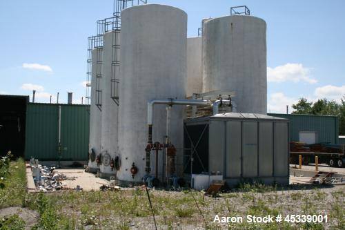 Used- Clemmer Carbon Steel Storage Tank, 30,000 gallon.  13' Diameter x 32' straight side.  Slight cone top and flat bottom,...