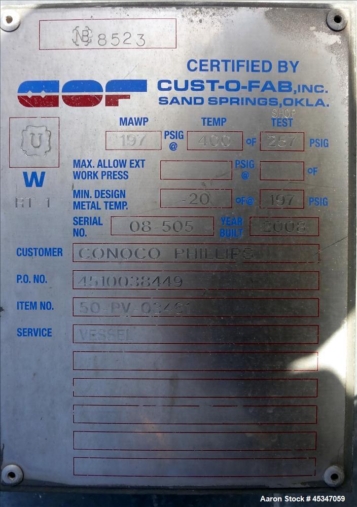 Used- Cust-O-Fab inc heat exchanger