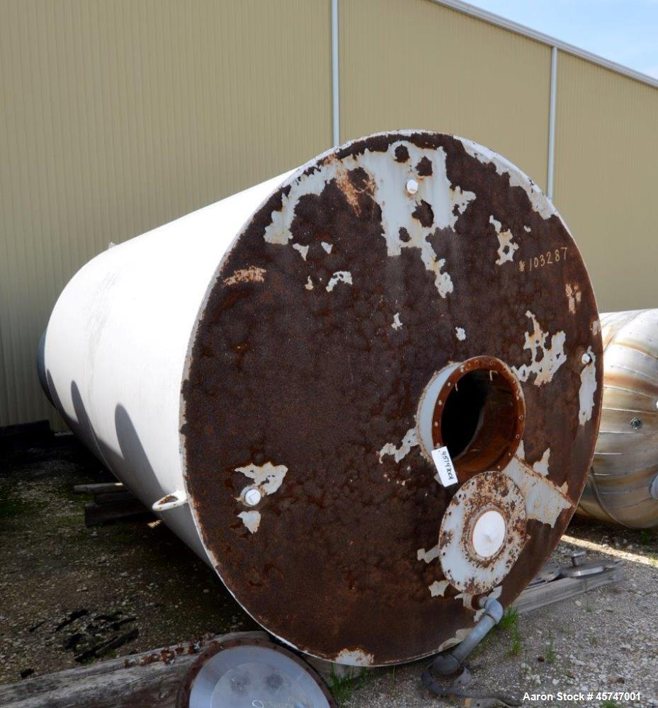 "Used- Dunn Industries Ultra Tank, 5000 Gallon, Carbon Steel, Vertical. Approximate 96"" diameter x 160"" straight side, slight..."