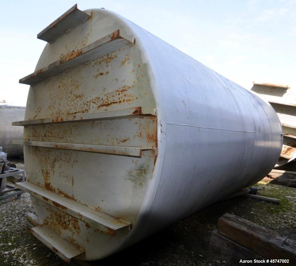 """Used- Dunn Industries Ultra Tank, 5000 Gallon, Carbon Steel, Vertical. Approximate 96"""" diameter x 160"""" straight side, slight..."""