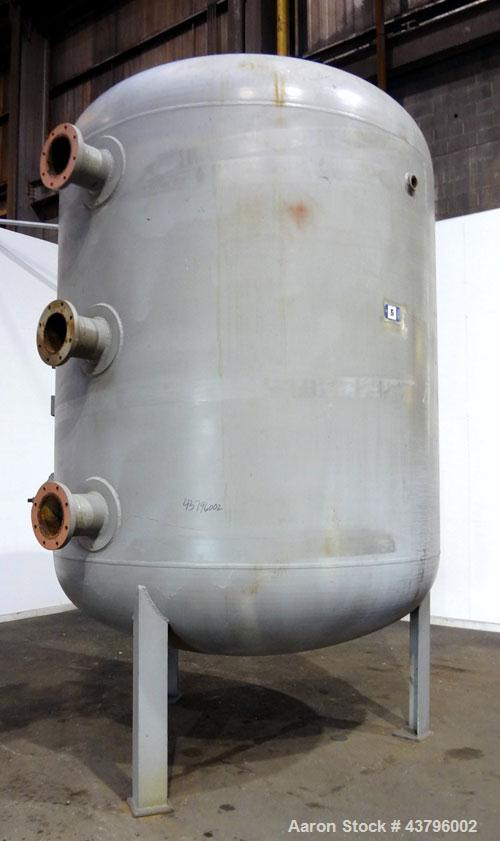 "Used- Fuller Company Pressure Tank, 3500 Gallon, Carbon Steel. Approximately 96"" diameter x 96"" straight side, elliptical to..."