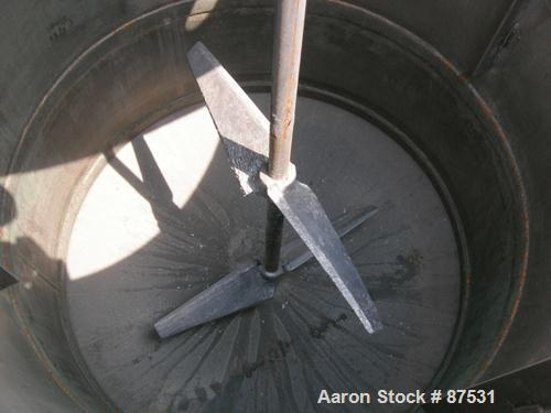 """USED: Graco Mix Tank 125 gallons, carbon steel, vertical. 30"""" diameter x 40"""" straight side. Flat bolt on top with 1/3 hinged..."""