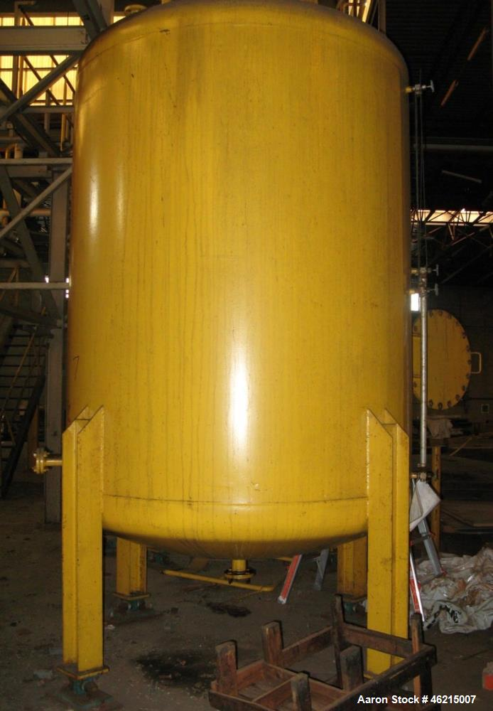 Used- Henders 2500 Gallon Vertical Steel Storage Tank