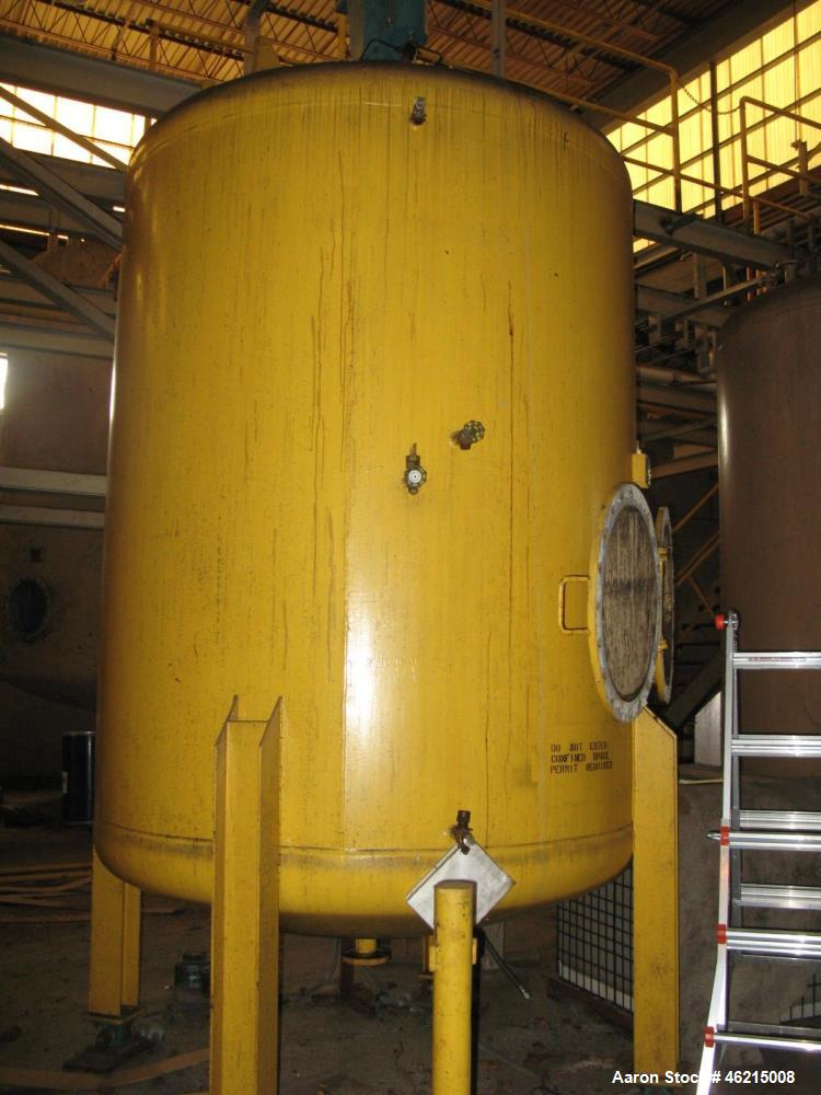 Used- Henders 2500 Gallon Vertical Steel Storage Tank