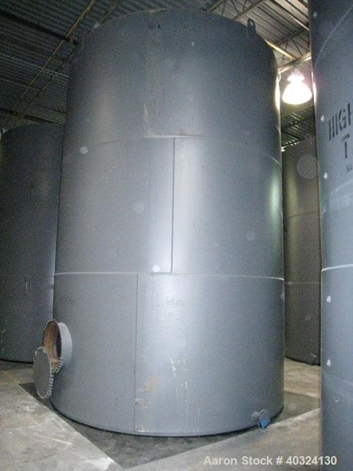 Unused- Highland Tank, 15,225 Gallon, Carbon Steel, Vertical. Approximately 12' diameter x 18' straight side, slight coned t...