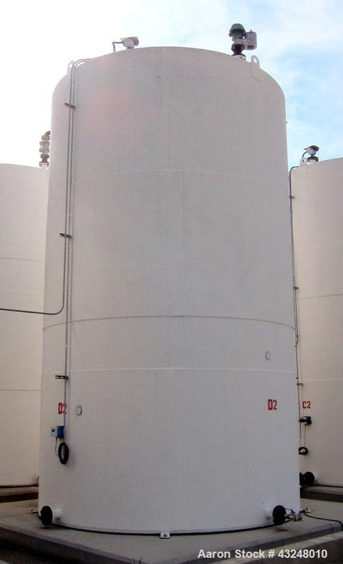 Used- Highland Tank, 16,920 Gallon, Carbon Steel, Vertical. Approximately 12' diameter x 20' straight side, slight coned top...
