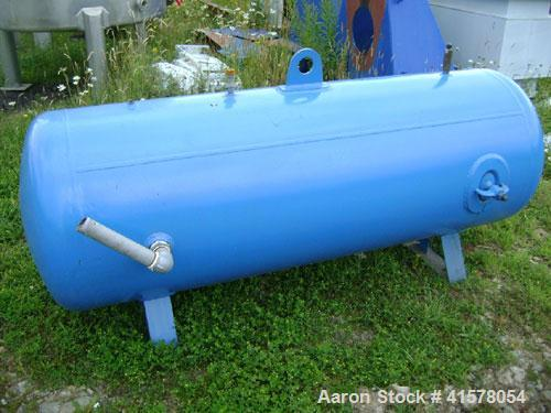 Used- Hoval Air Receiver Pressure Tank, 230 gallon, carbon steel, horizontal. Approximately 30'' diameter x 70'' long, dishe...