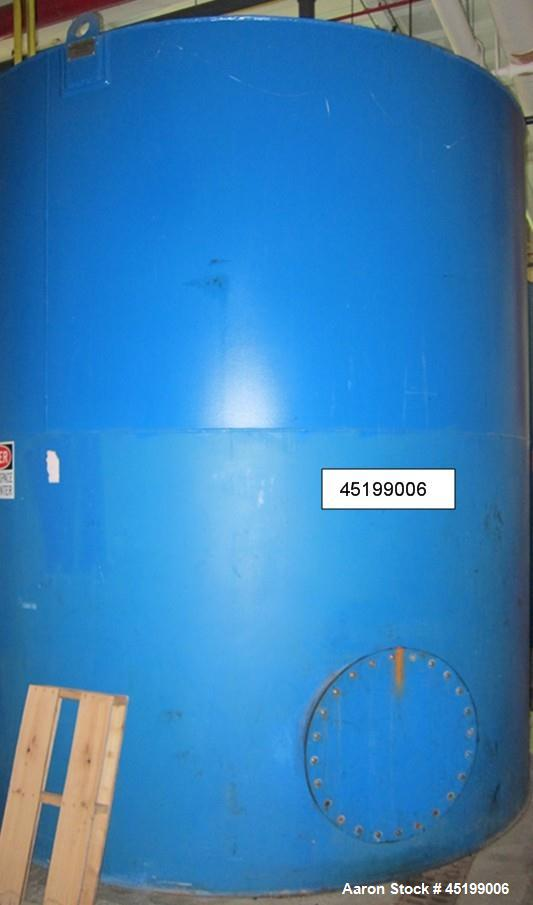 "Used  International Production Specialists 7000 Gallon Verical Carbon Steel Storage Tank. Coned top, flat bottom. 123"" diame..."