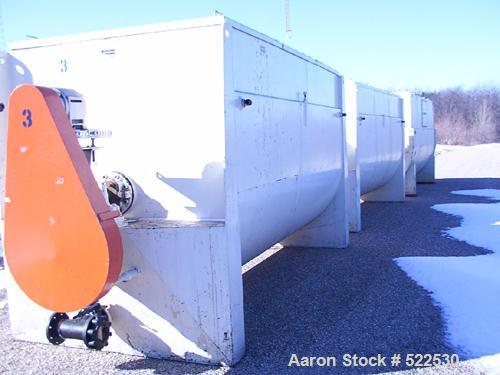 "USED: McCarter 30,000 lb horizontal chocolate storage tank. Tank is 75"" wide x 78"" deep x 149"" long. Carbon steel constructi..."