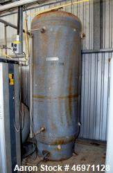 Used- Steel Fab Air Receiving Tank, Approximate 350 Gallon, Carbon Steel, Vertical. Internal rated 165 psi at -20 to 400 deg...