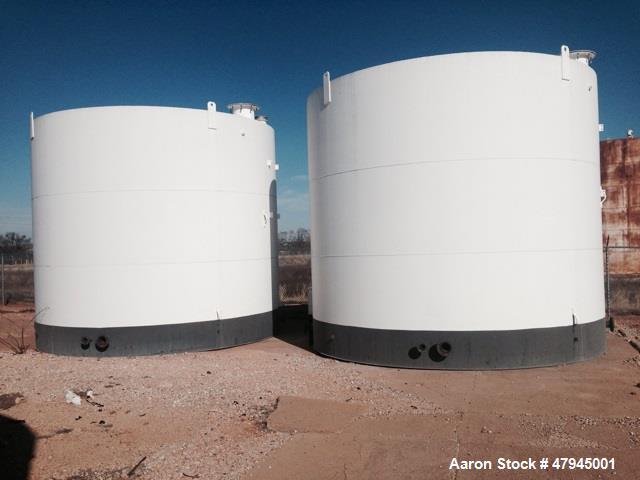 Used- Mid-States MFG, Tank, 17,184 Gallon / 456 BBL, Carbon Steel. 15' diameter x 13' high. Flat top, flat bottom. Yr. 2008.