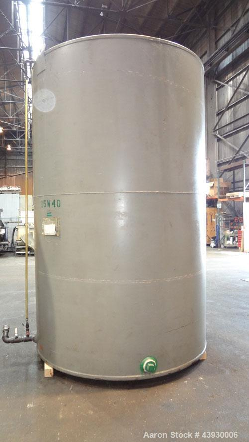 """Used- Tank, Approximately 3100 Gallon, Carbon Steel, Vertical. 84"""" Diameter x 130"""" straight side, flat top and bottom. Openi..."""