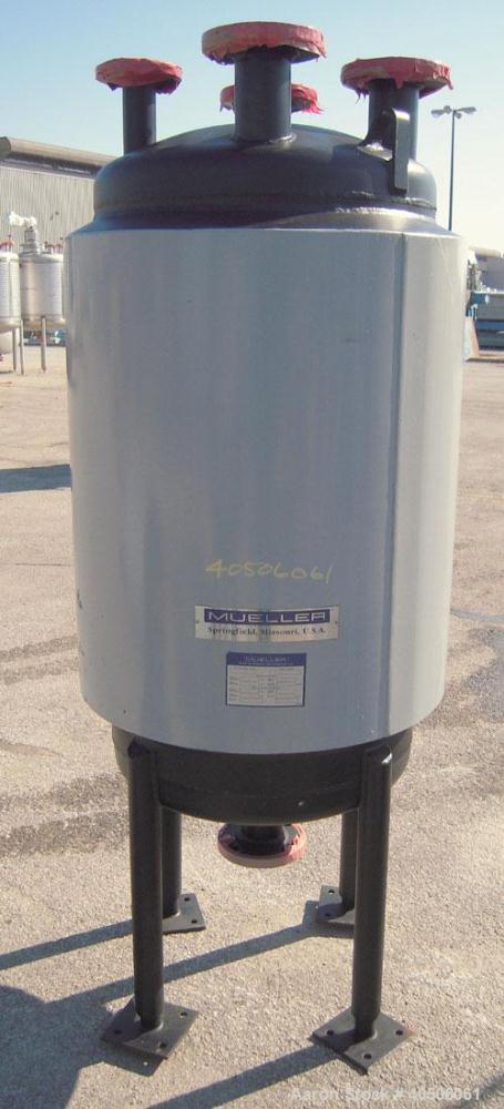 "Unused- Mueller Pressure Tank, 75 Gallon, Model ""F"", SA-516 GR 70 carbon steel, vertical. 24'' diameter x 40'' straight side..."