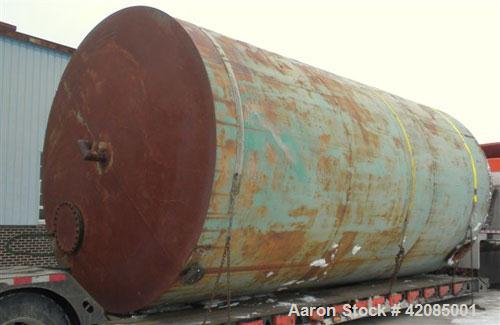 """Used- Tank, 20,000 Gallon, Carbon Steel, Vertical. 144"""" diameter x 288"""" straight side. Slight dished top, flat bottom. Openi..."""