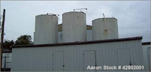 """Used-8000 Gallon Carbon Steel Tank. Vertical, approximately 8' diameter x 21'6"""" straight side. Last used on oil storage."""