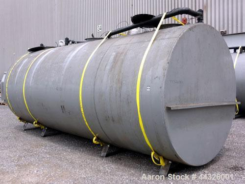 Used- (3) Compartment Tank, approximately 7200 total gallons, carbon steel, horizontal. (2) End compartments approximately 9...