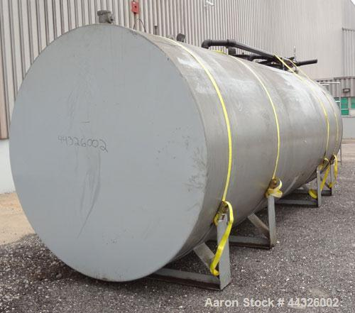 Used- (3) Compartment Tank, approximately 7400 total gallons, carbon steel, horizontal. (1) End compartment, (1) middle comp...