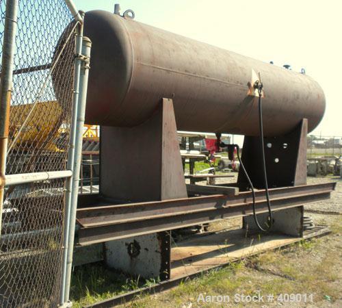 "Used- Trinity Industries Pressure Tank, 1434 Gallon, Horizontal, Carbon Steel. 46-3/4"" x 180"" straight side, 2"" elliptical e..."