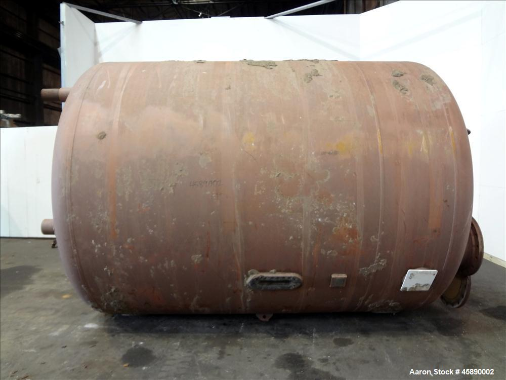 Used- Carbon Steel Vertical Pressure Tank, Approximately 6500 Gallon