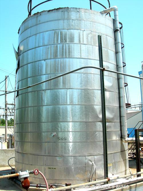 "USED: Wolfe Mechanical and Equipment tank, 13,600 gallon, carbon steel, vertical. Approximate 144"" diameter x 192"" straight ..."