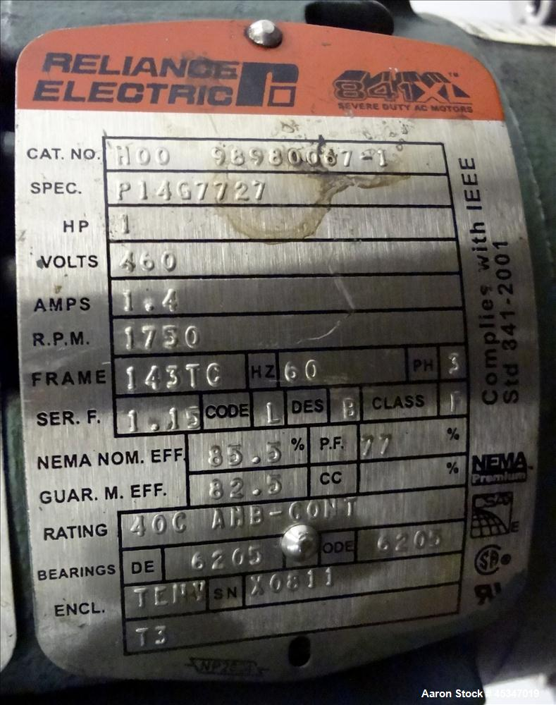 Used- 10 Gallon Stainless Steel Zachry Industrial Mix Vessel, Model X1S100
